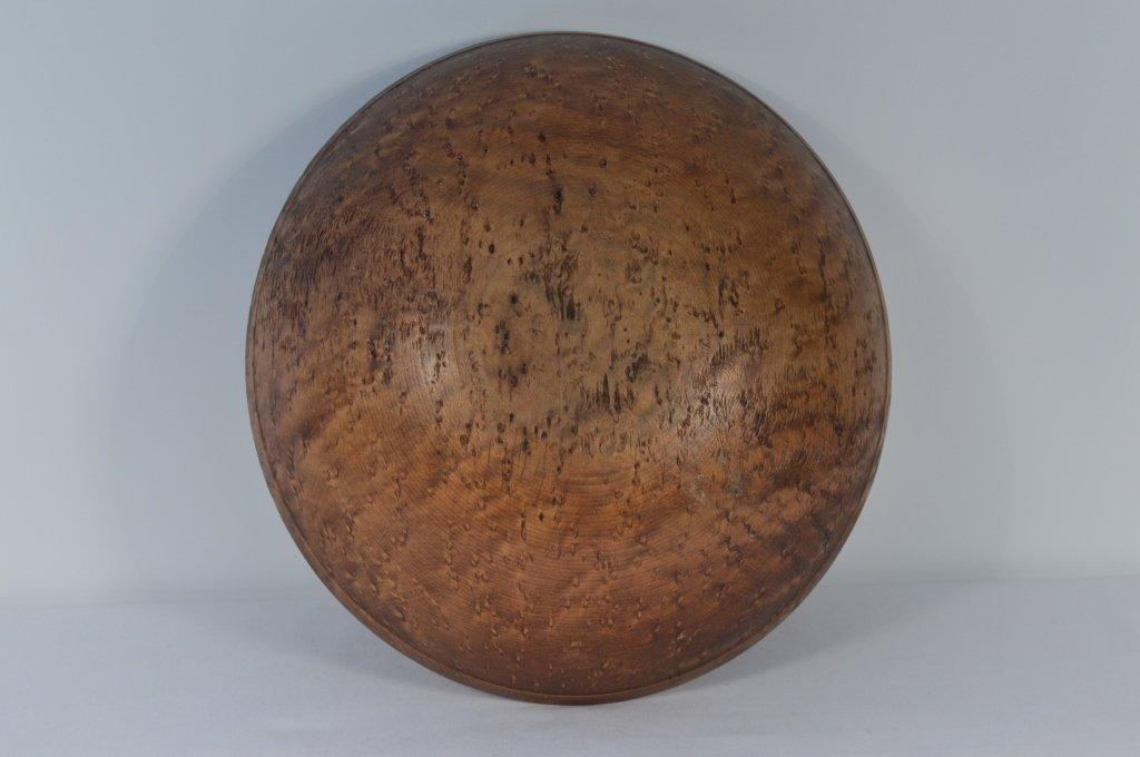 "Birdseye Maple Antique Bowl - 15"" diameter - 2"