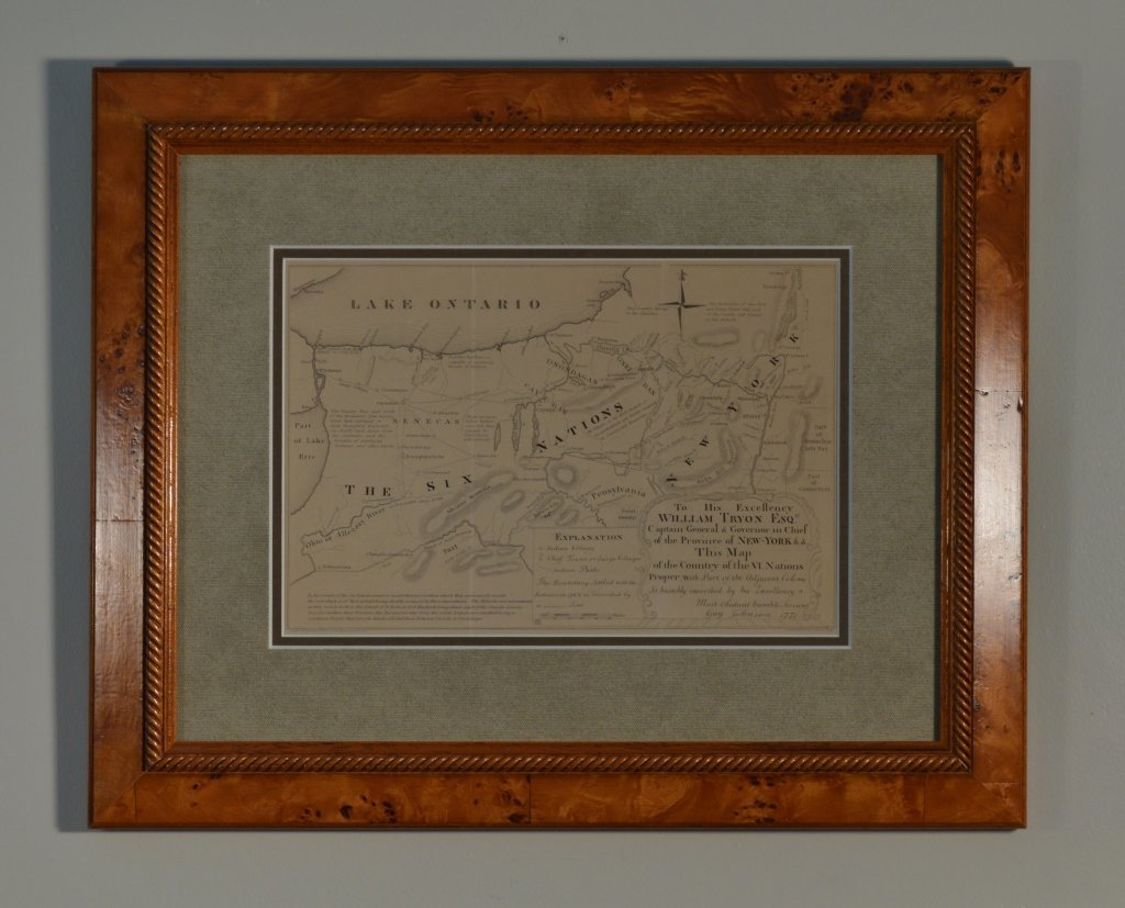 Framed and Matted Map of the 6 Nations in New York