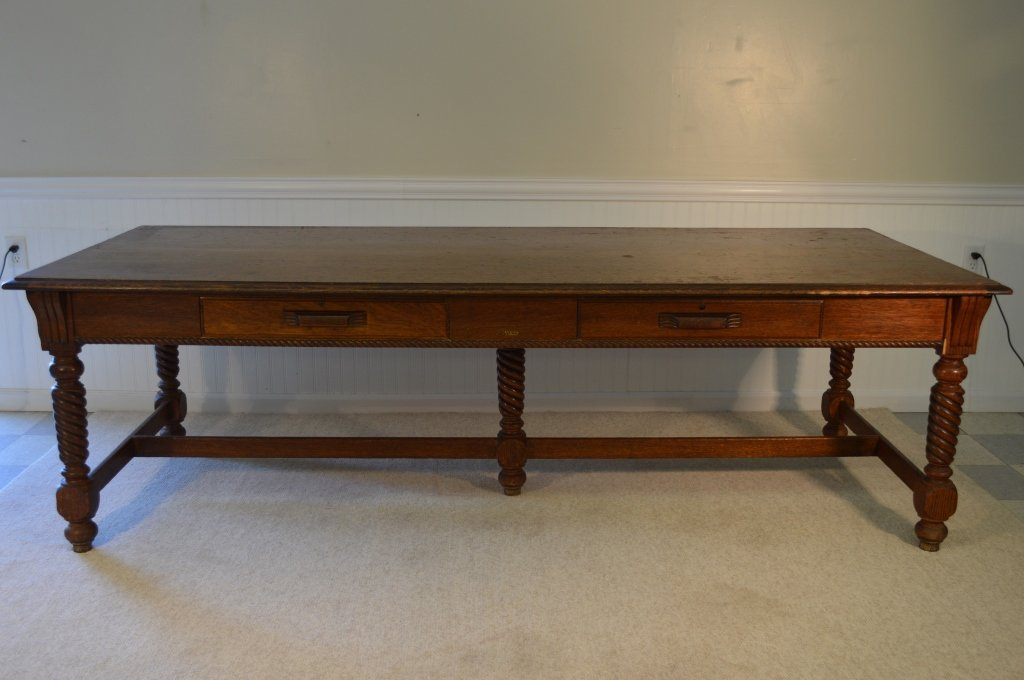 """Macey"" Library Table 8' long w/ Quarter Sawn Oak"