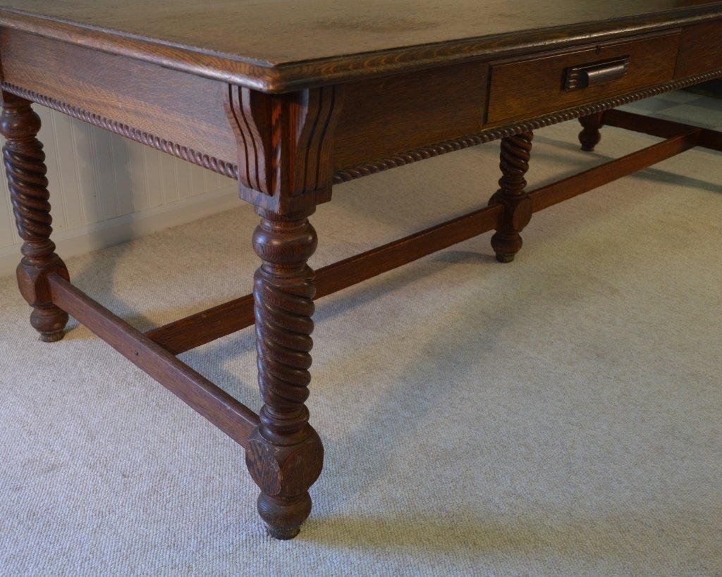"""Macey"" Library Table 8' long w/ Quarter Sawn Oak - 3"