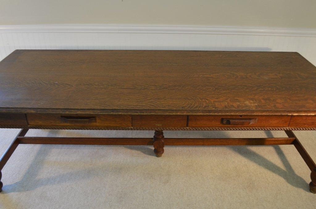 """Macey"" Library Table 8' long w/ Quarter Sawn Oak - 4"