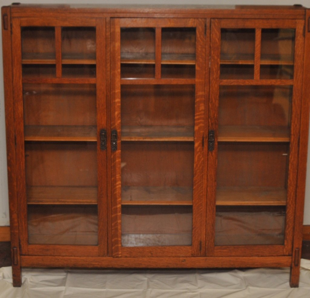 Mission Arts & Crafts 1/4 Sawn Oak Bookcase