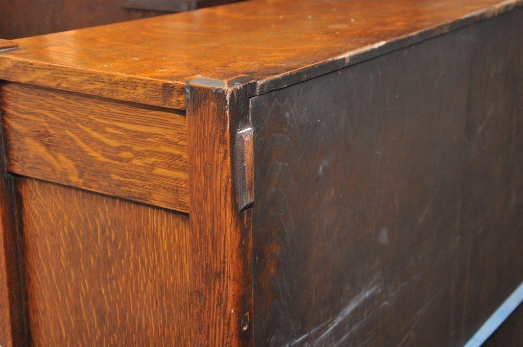 Mission Arts & Crafts 1/4 Sawn Oak Bookcase - 3