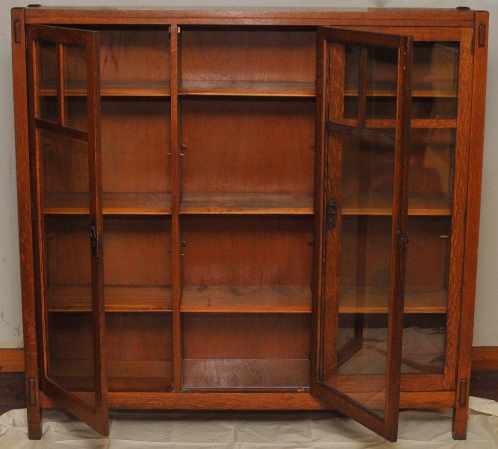 Mission Arts & Crafts 1/4 Sawn Oak Bookcase - 5