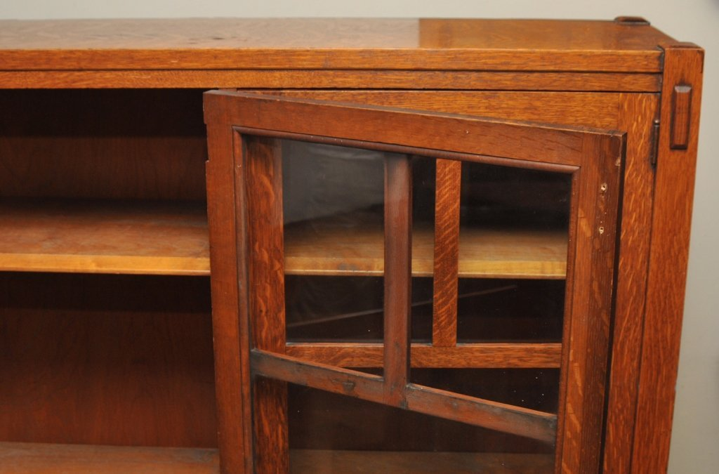 Mission Arts & Crafts 1/4 Sawn Oak Bookcase - 7