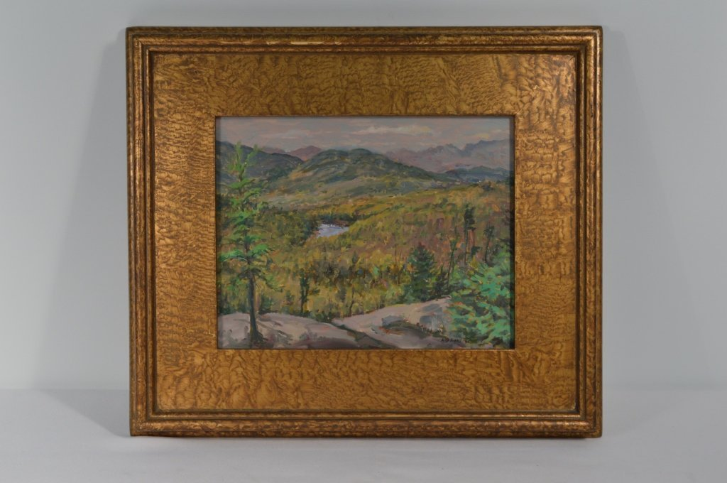 """Oil on Board  """"Lost Pond from Weston Mountain"""""""