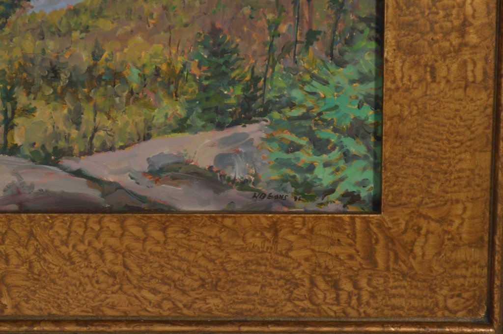 """Oil on Board  """"Lost Pond from Weston Mountain"""" - 4"""