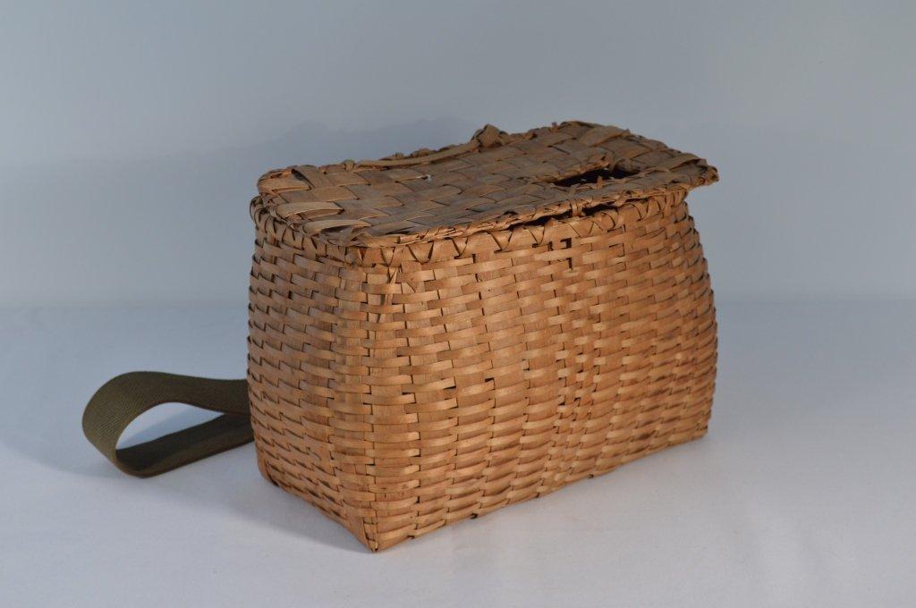 Northwoods Fishing Creel with Basketweave Top
