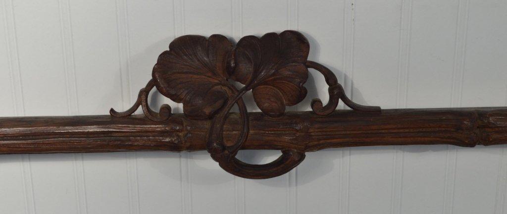 Black Forest Walnut Carved Gun Wall Rack - 2