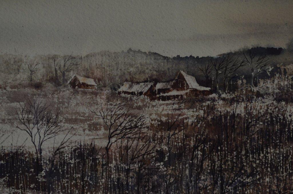 """Robert Plumb Original Watercolor """"Parishville #2"""" - 3"""