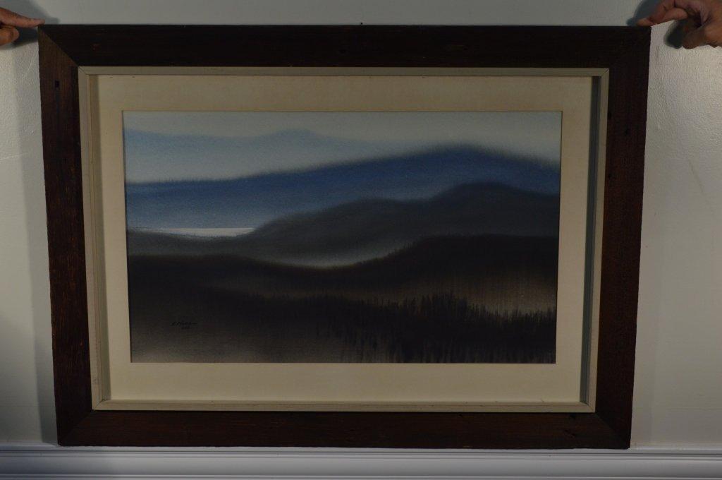 """Robert Plumb Original Watercolor """"Pond"""""""