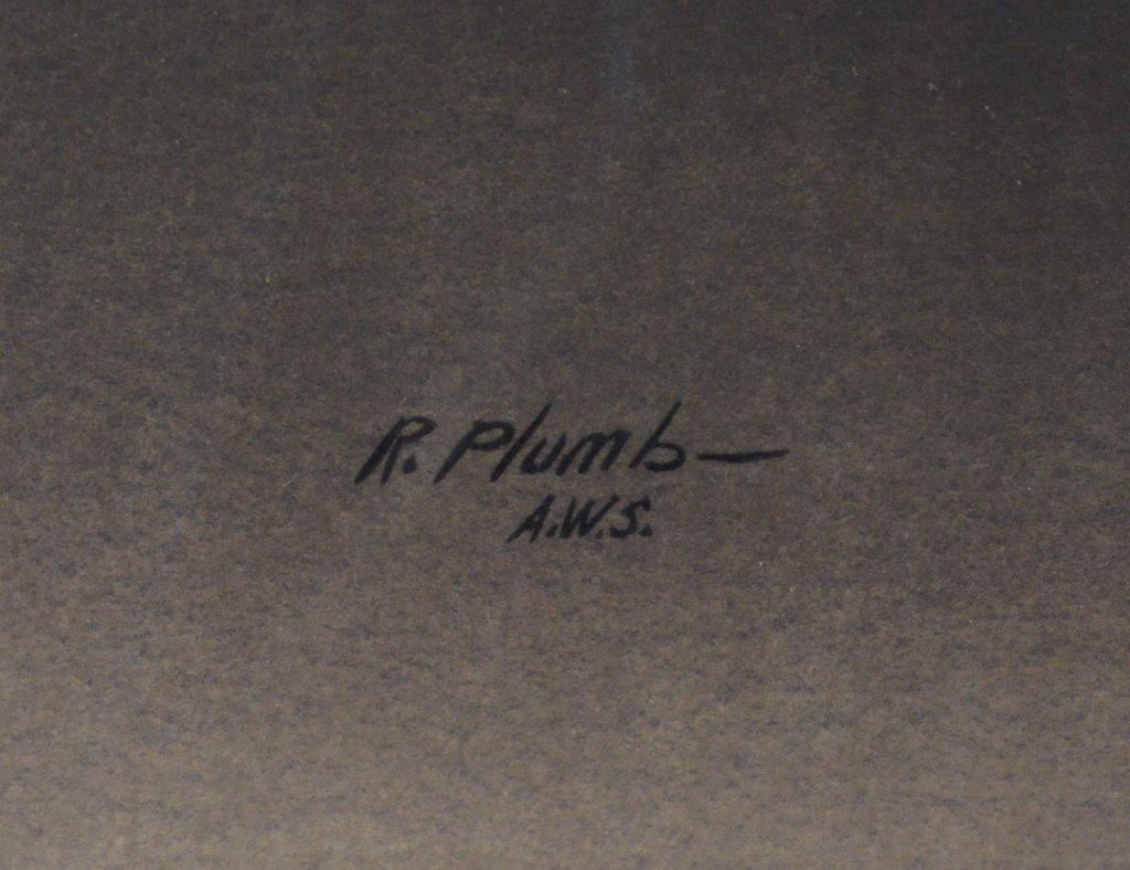 """Robert Plumb Original Watercolor """"Pond"""" - 2"""