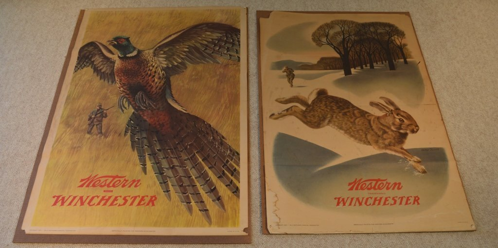 2 Vintage Winchester Advertising Posters from 1955