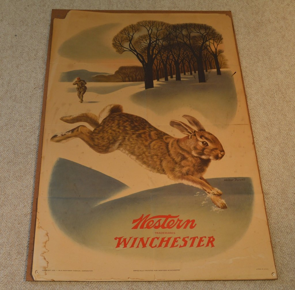 2 Vintage Winchester Advertising Posters from 1955 - 2