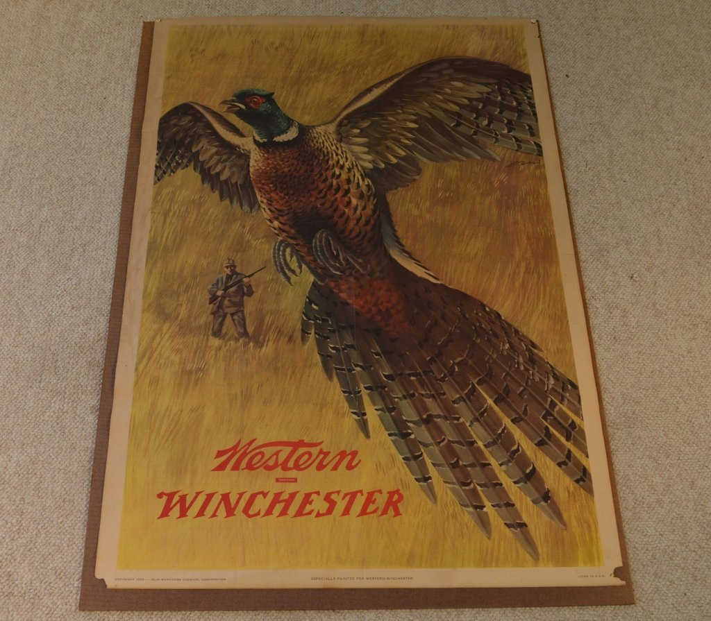 2 Vintage Winchester Advertising Posters from 1955 - 3