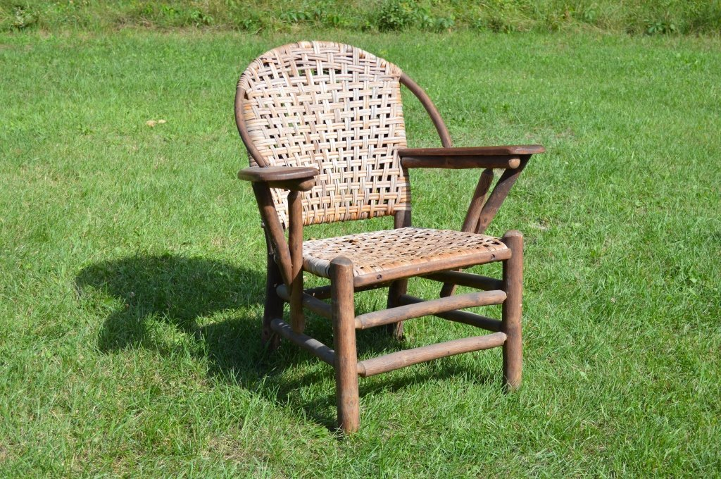 Branded Old Hickory Paddle Arm Chair