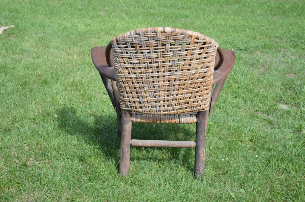 Branded Old Hickory Paddle Arm Chair - 2