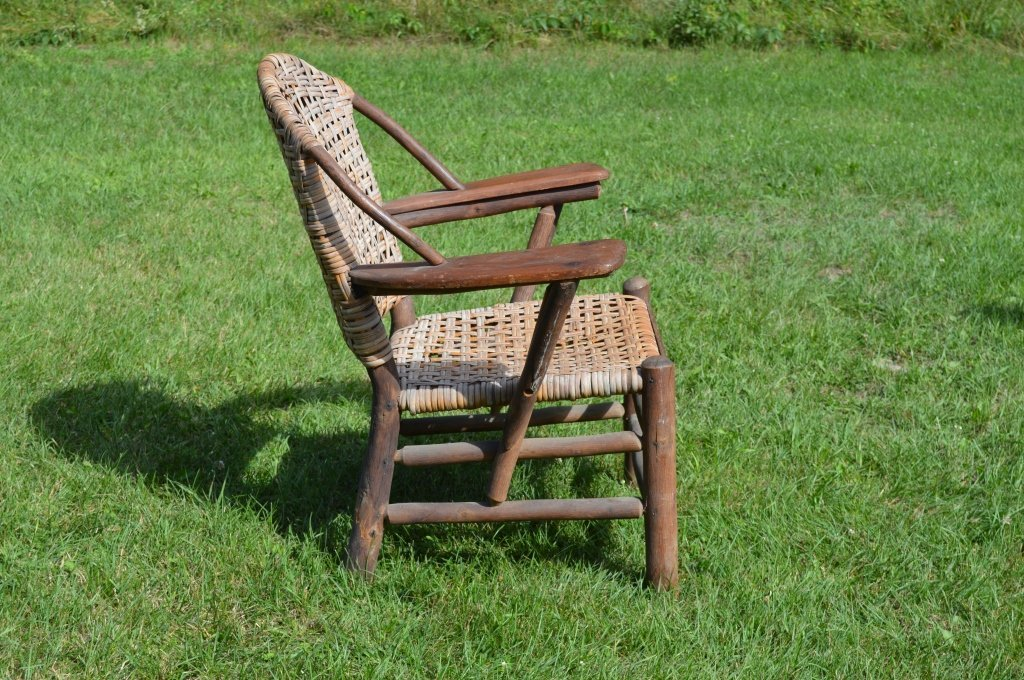 Branded Old Hickory Paddle Arm Chair - 3