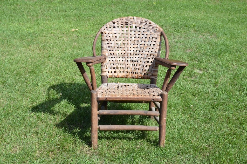 Branded Old Hickory Paddle Arm Chair - 4