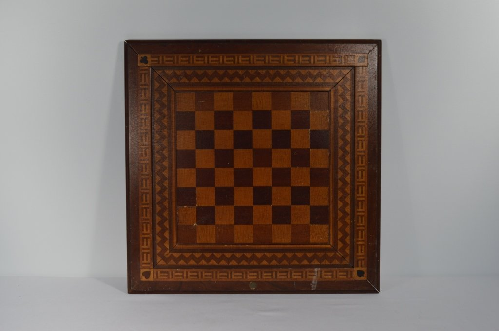 """Double Sided Inlaid Game Board - 18 1/2"""" x 18 1/2"""""""