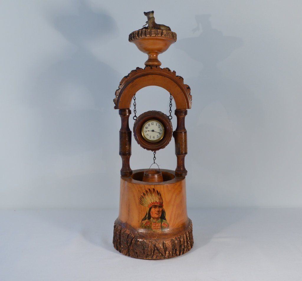 Weirdware Adirondack Wooden Clock Wishing Well