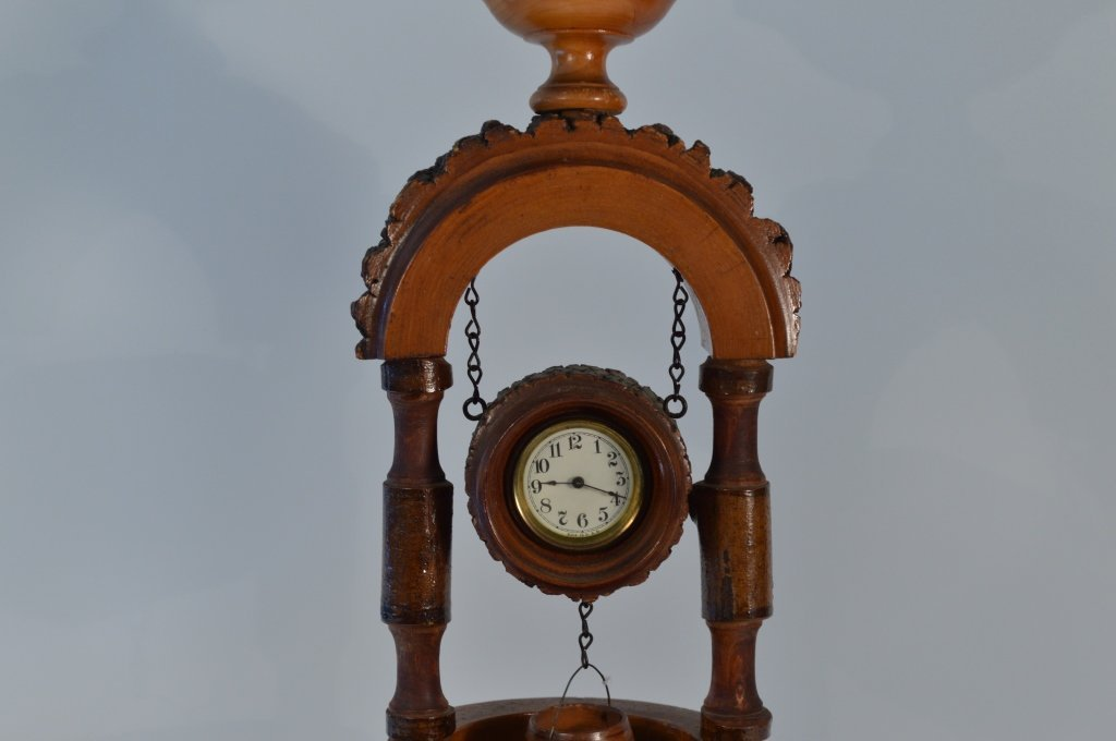Weirdware Adirondack Wooden Clock Wishing Well - 2