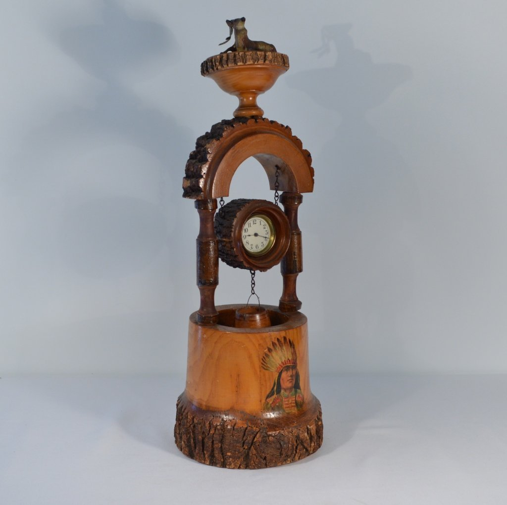 Weirdware Adirondack Wooden Clock Wishing Well - 4