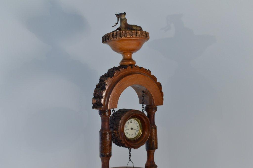 Weirdware Adirondack Wooden Clock Wishing Well - 5