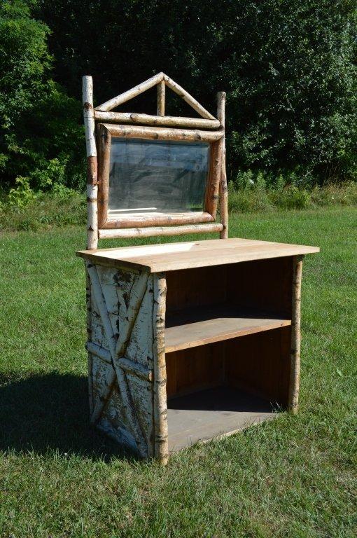 White Birch Adirondack Open Front Dresser
