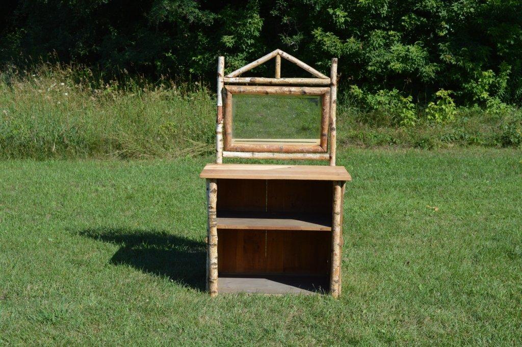 White Birch Adirondack Open Front Dresser - 3