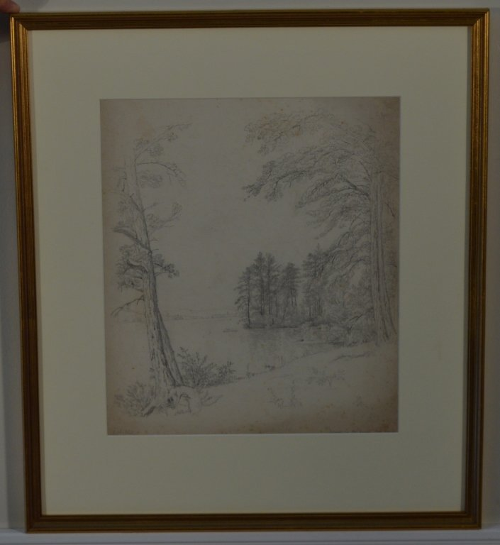 Pair of Drawings by J.W. Hill - 4