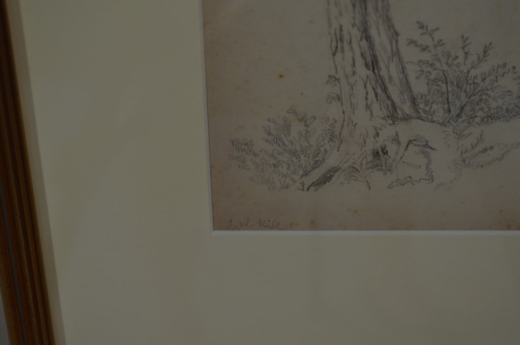 Pair of Drawings by J.W. Hill - 5