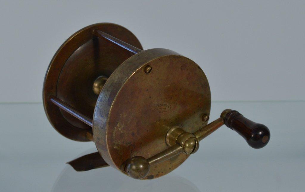 """J.C. Conroy & Co NY Heavy Brass Fishing Reel - 3"""""""
