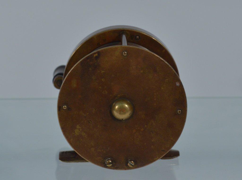 """J.C. Conroy & Co NY Heavy Brass Fishing Reel - 3"""" - 2"""