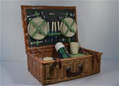 Abercrombie & Fitch Picnic Set in Wicker Case