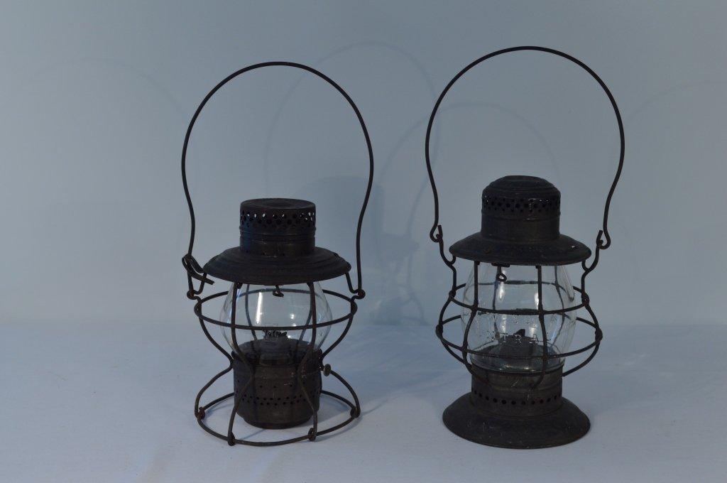 2 Railroad Lanterns and a Railroad Hammer - 4