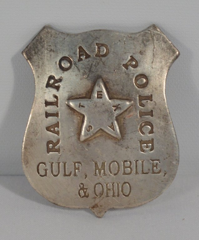 Texas Railroad Police Badge - D&H Co. Hammer - NYC - 3