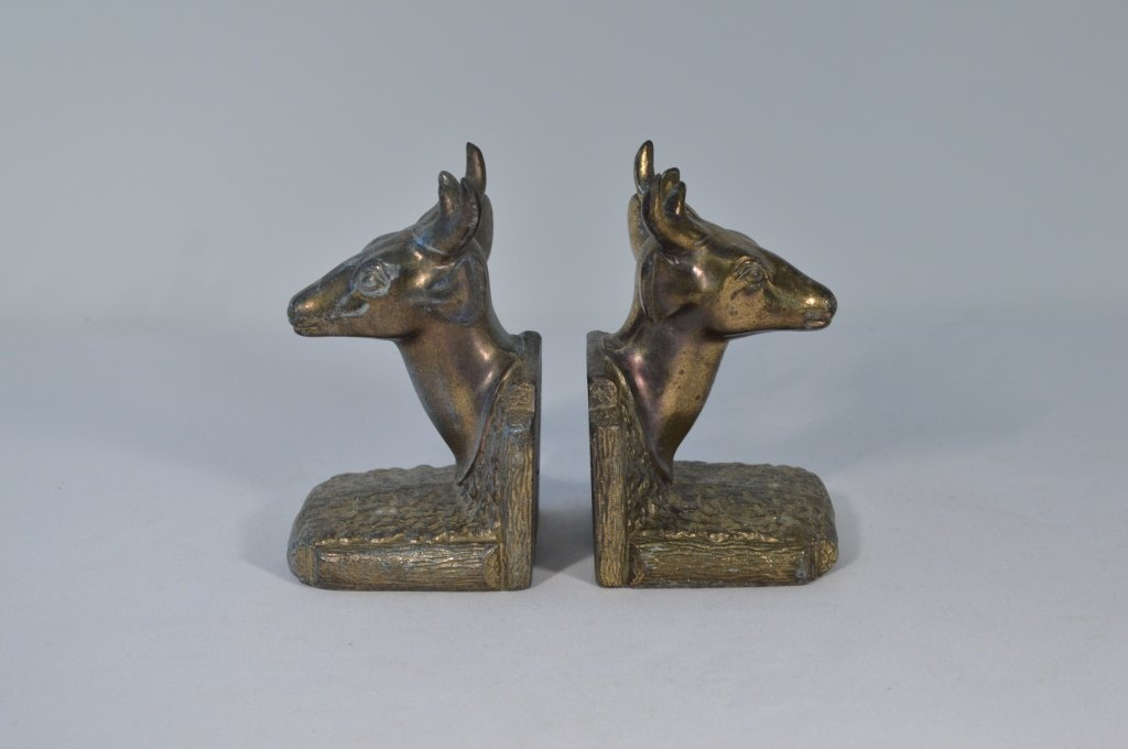 Bradley & Hubbard Elk Letter Holder & Deer Bookend - 2