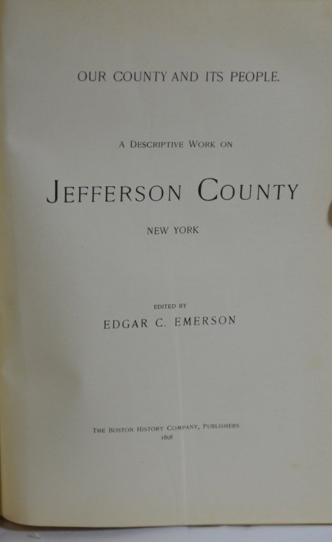 Jefferson County NY History Book 1898 - 2