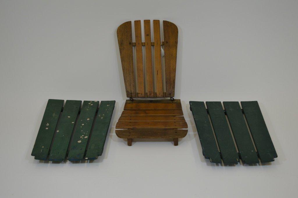 Wooden Canoe Seats - Signed