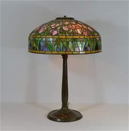 "Signed Tiffany Studios 18"" Tulip Table Lamp"