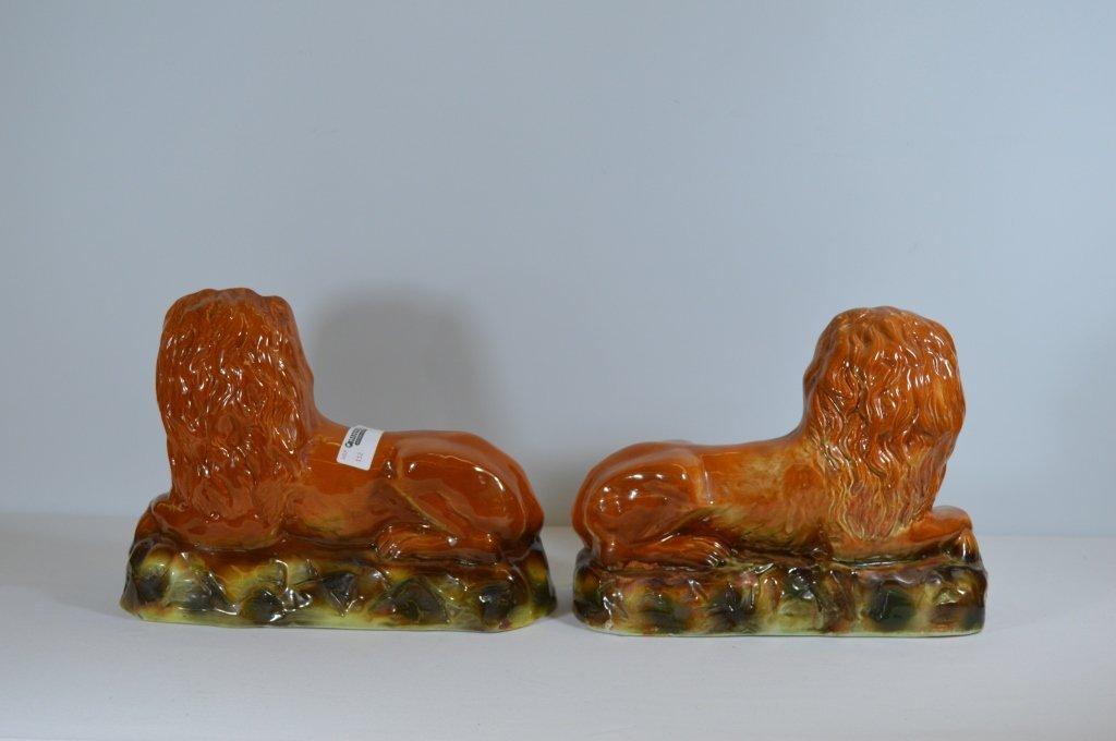 Pair of Ceramic Lions - 2