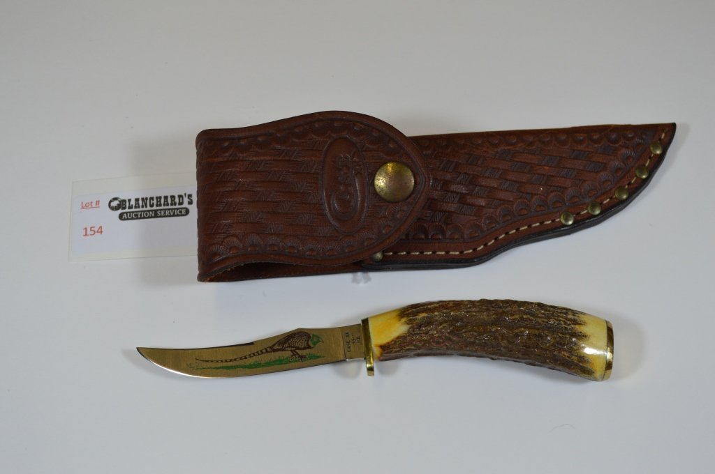 Case Hunting Knife with Leather Sheath