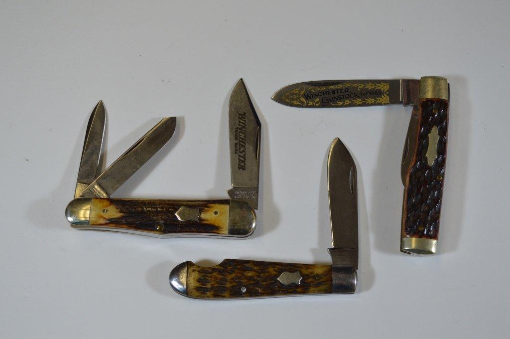 3 Winchester Pocket Knives