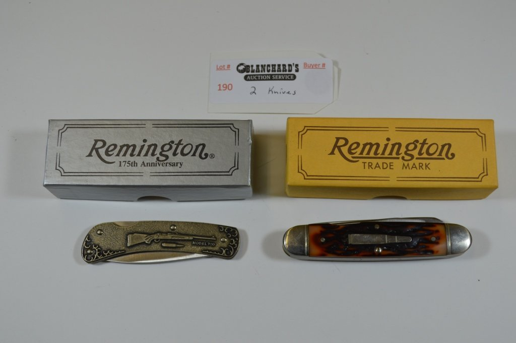 2 Remington Pocket Knives - New in Box