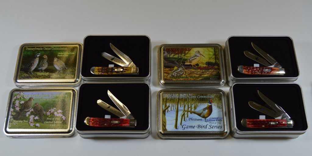 Set of 4 Case Pocket Knives - New in Box