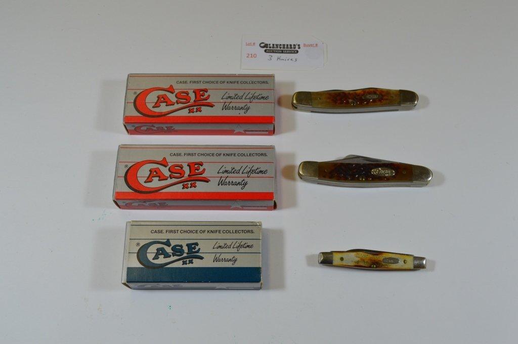 3 Case Pocket Knives - New in Box