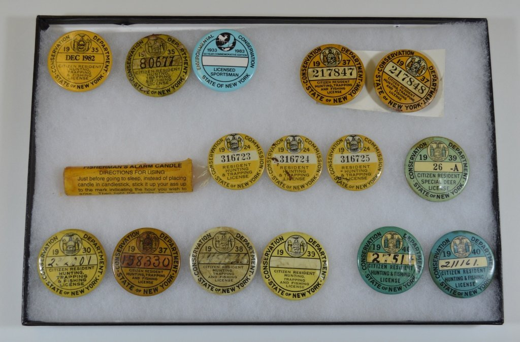 15 NYS Hunting and Fishing Buttons