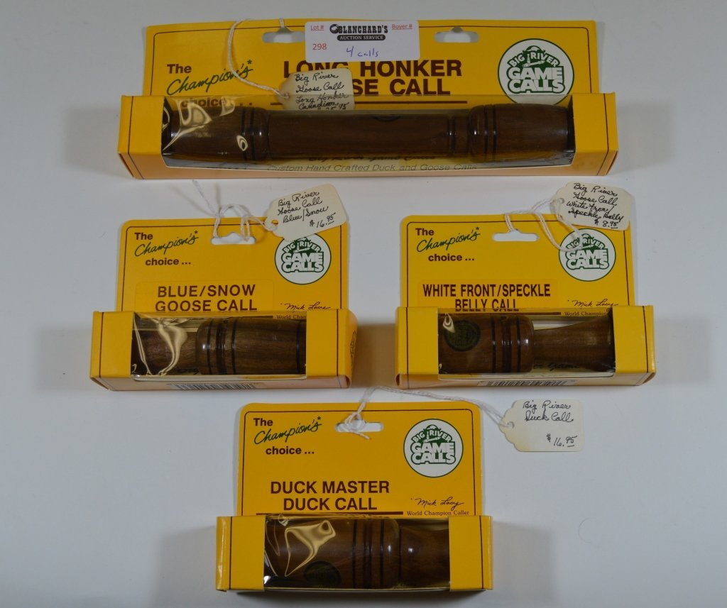 4 Big River Game Calls - New in Package