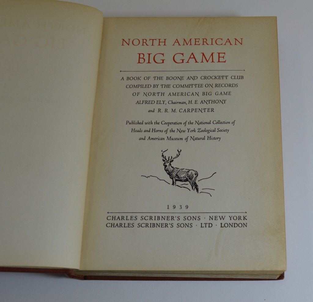 North American Big Game 1939 Scribners - 2